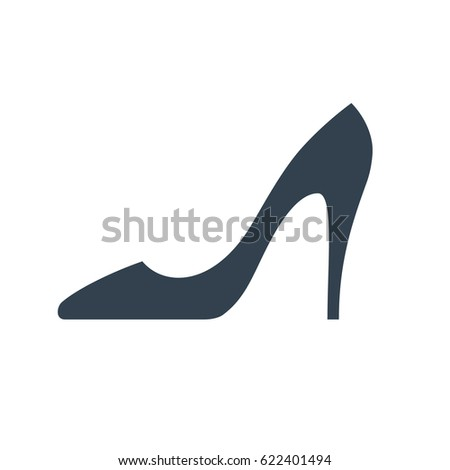 high heel shoes icon elegant black stock vector 353976317