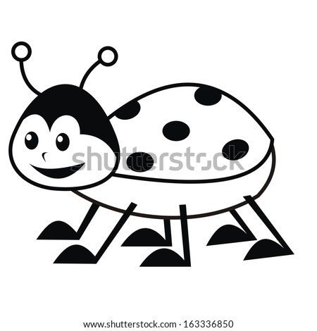 Ladybug Coloring Book Vector Icon Stock Vector 163336850 - Shutterstock
