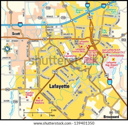 Lafayette louisiana area map stock vector royalty free 139401350 lafayette louisiana area map publicscrutiny Images