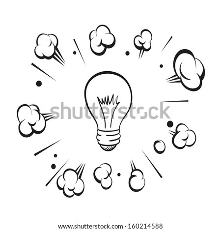 Lamp boom isolated on a white background, vector illustration - stock vector