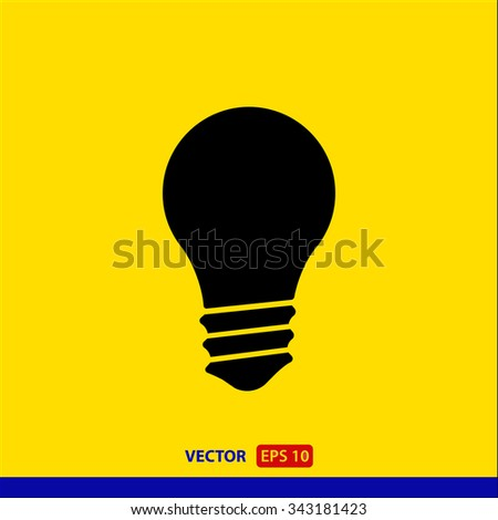lamp  icon. One of set web icons