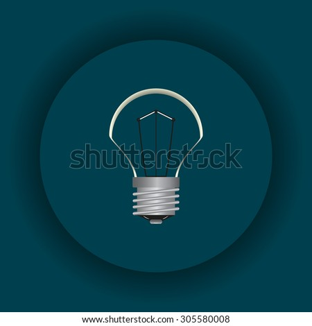 lamp, incandescent bulb. icon. vector design - stock vector