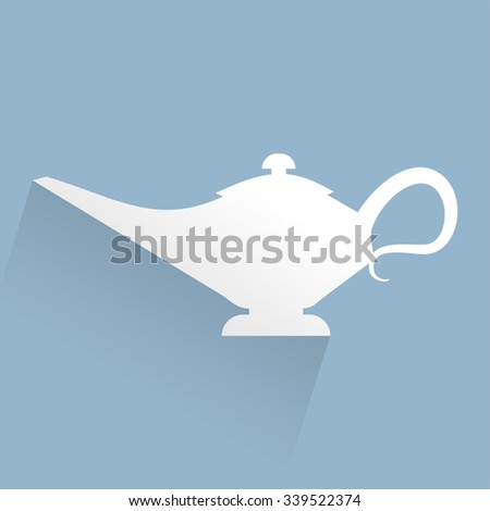 lamp sign - stock vector
