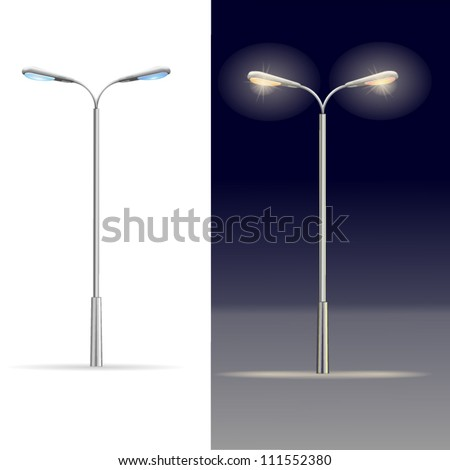 lamp street, electricity industry - stock vector