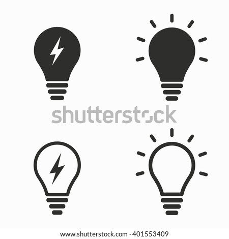 lamp vector icons set black illustration stock vector 401553409 rh shutterstock com lamp vector ai lamp vector png