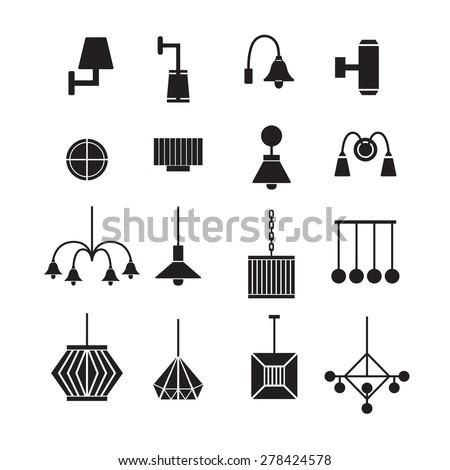 Lamp Vector Chandelier Vector Decorate Icon Stock Vector 278424566 - Shutterstock