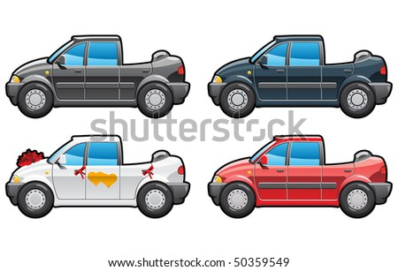 landaulet part of my collections  of Car body style. Simple gradients only - no gradient mesh. - stock vector