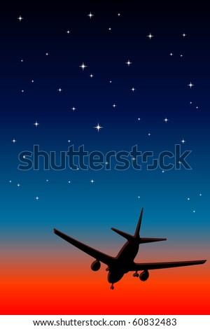 Landing - stock vector