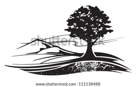 Landscape - stock vector