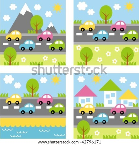 landscape - stock vector