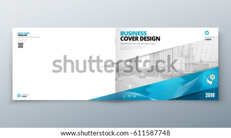 Landscape Brochure Design Corporate Business Template Stock Vector
