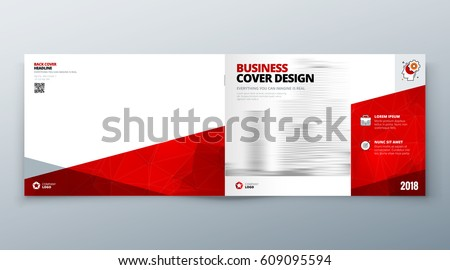 Landscape Brochure Design Teal Corporate Business Stock Vector