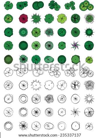 Plant Symbols Landscape Design