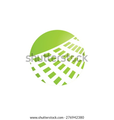 landscape logo - stock vector