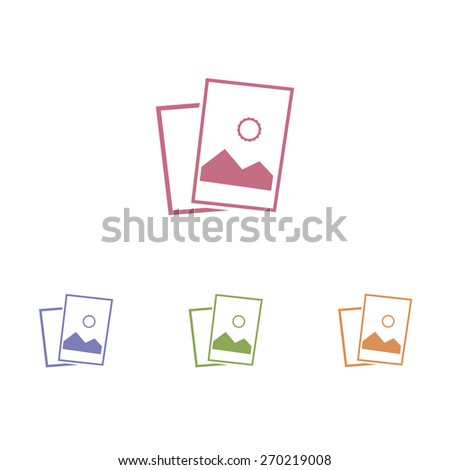 Landscape photo icon. Vector illustration. - stock vector