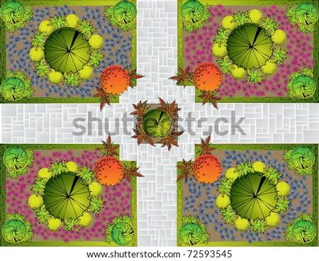 Landscape  Plan - stock vector