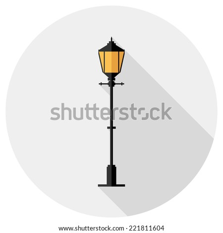 Lantern icon. Flat design style modern vector illustration. Isolated on stylish color background. Flat long shadow icon. Elements in flat design.