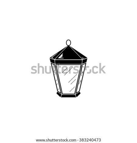 Lantern icon. Simple illustration.