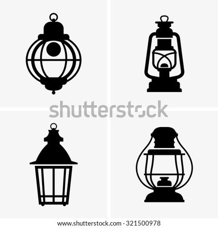 Lanterns - stock vector