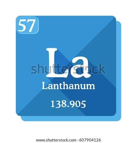 lanthanum la element of the periodic table vector illustration in flat style - Lanthanum Periodic Table Atomic Mass
