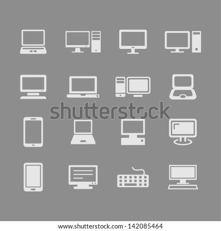 Laptop and computers Icon illustration