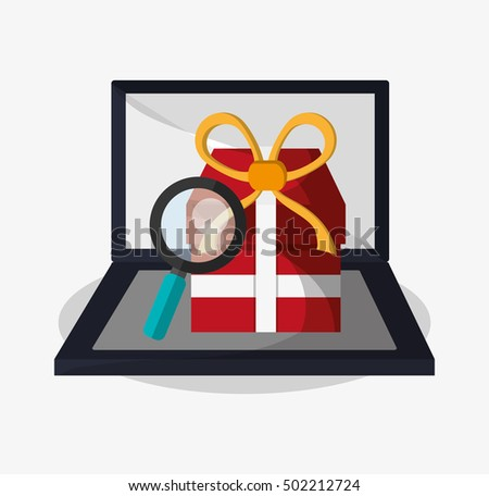Laptop and digital marketing design