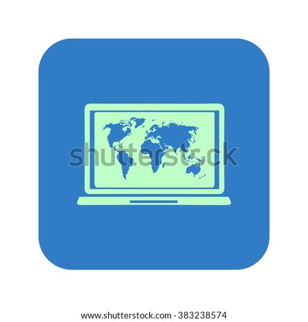 Laptop world map illustration world map stock vector 291210230 laptop and world map illustration world map geography symbol flat design style vector gumiabroncs Images