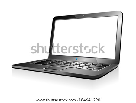 Laptop Computer - stock vector