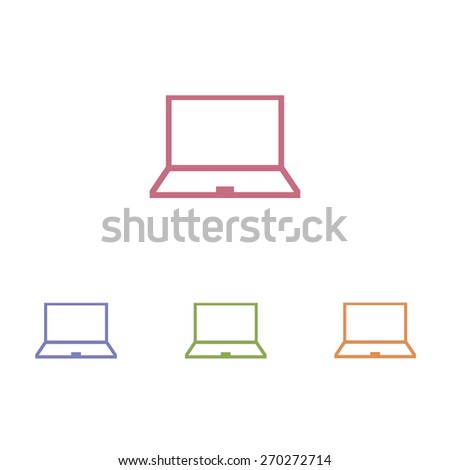 Laptop icon - stock vector