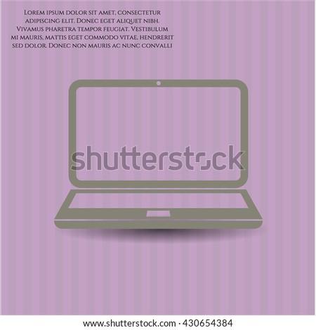Laptop icon, Laptop icon vector, Laptop icon symbol, Laptop flat icon, Laptop icon eps, Laptop icon jpg, Laptop icon app, Laptop web icon, Laptop concept icon, Laptop website icon, Laptop - stock vector
