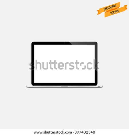 Laptop icon. Modern Icon Series. Laptop vector - stock vector