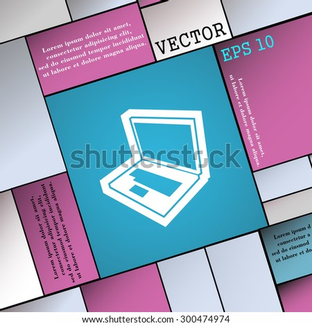 Laptop icon sign. Modern flat style for your design. Vector illustration - stock vector