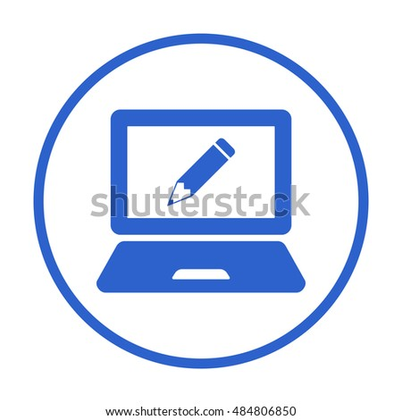 laptop  icon,vector. Flat design.