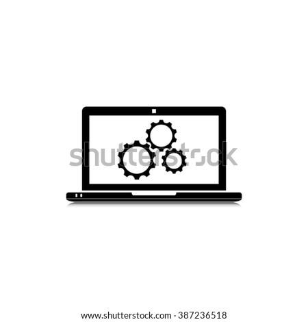Laptop icon vector illustration - stock vector