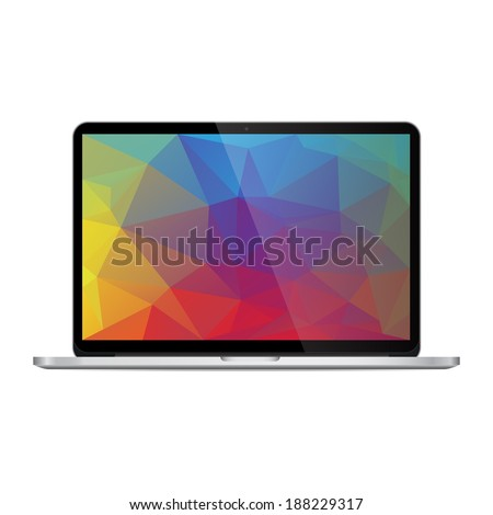 Laptop isolated on white background. Vector