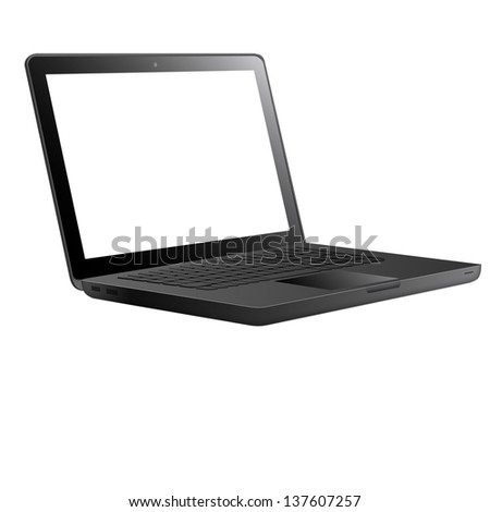 Laptop isolated on white background. Vector EPS10