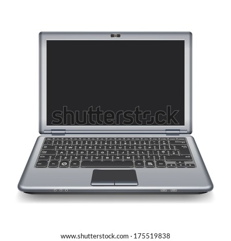Laptop isolated on white background/vector illustration