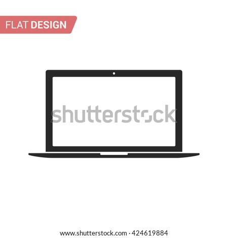 Laptop. Laptop icon. Flat Laptop icon. Laptop icon isolated. Laptop icon vector. Laptop icon jpg. Laptop icon jpeg. Abstract Laptop icon. Laptop icon closeup. Laptop icon silhouette. Laptop web icon - stock vector
