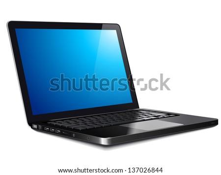 Laptop, modern computer - stock vector