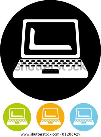 Laptop – Vector icon - stock vector