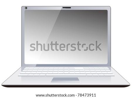 Laptop vector PC - stock vector