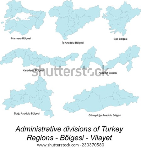 Large and detailed maps of all Turkey regions, subdivisions and islands.