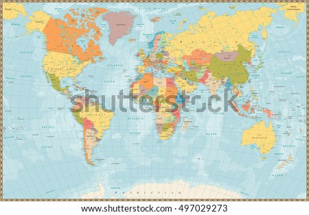 Political Stock Images RoyaltyFree Images Vectors Shutterstock - World map marathi language