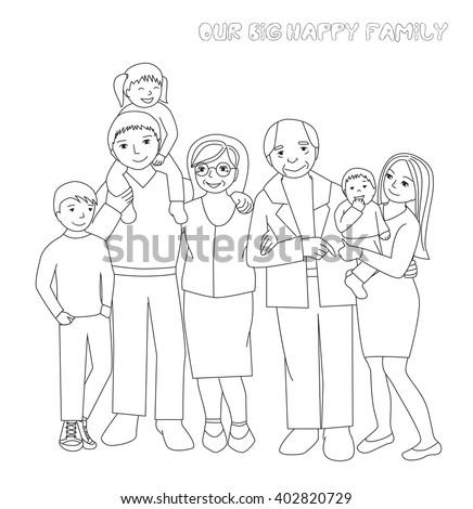 big family coloring pages wwwpixsharkcom images