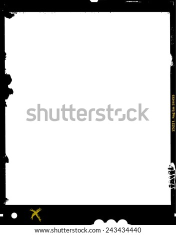 large format film sheet negative, 4 x 5 inch, photo frame, ,with free copy space, isolated on white background  - stock vector