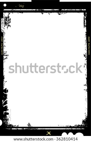 large format film sheet photo frame,with free copy space,vector illustration,fictional artwork - stock vector