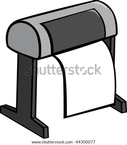 large format printer or plotter - stock vector
