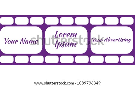 Large Illustration Film Photos Movies Film Stock Vector 1089796349 ...