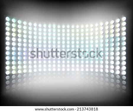 Large multimedia screen. Vector illustration. - stock vector