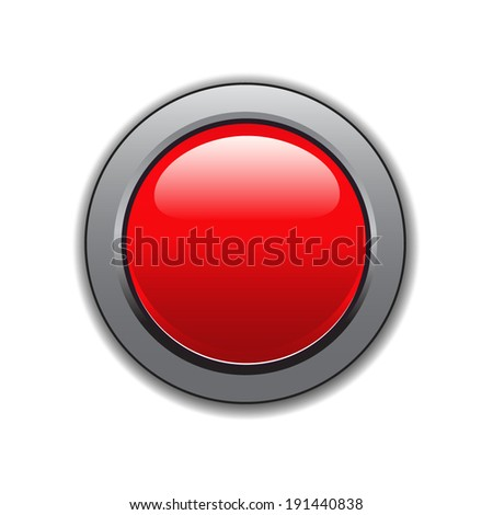 Large red button - stock vector